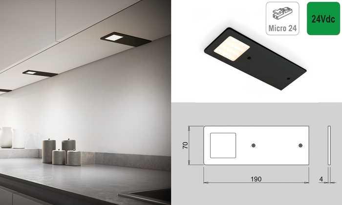 Led verlichting: zwart mat